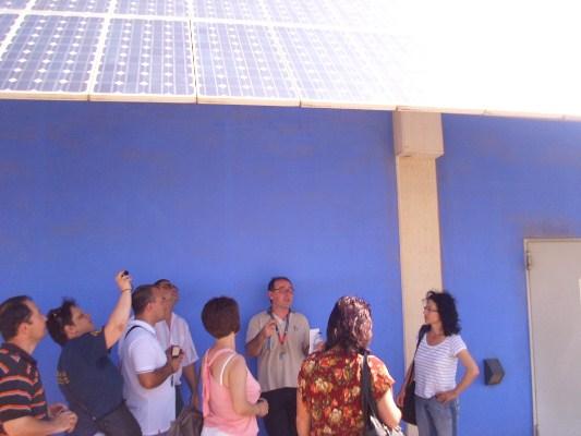 на покрива на Техническия университет във Валенсия